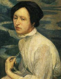 Diego Rivera maal Angelina Belovast http://www.wikiart.org/en/diego-rivera/portrait-of-angelina-beloff-1909